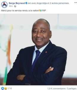 Hommage à Amadou Gon Coulibaly
